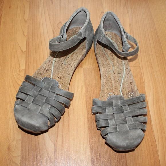 e7c15adb64c Ahnu Shoes - Ahnu 9.5 Vamp Sandal Genuine Leather Flats Shoes